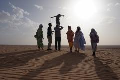 En las dunas del Sahara
